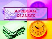 ADVERBIAL CLAUSE OF REASON